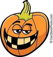 jack lantern cartoon - Cartoon Illustration of Funny...
