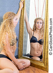 Pretty All-American Blonde Female - Attractive Al-American...
