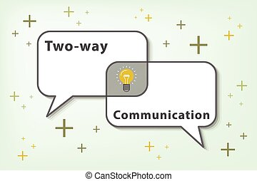 effective communication is two ways communication (vector...
