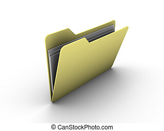 folder - icon of opened folder one white background