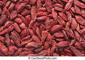 dried berries - detailed background of dried Tibetan Goji...