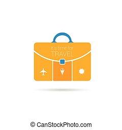 time for travel orange vector