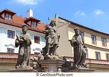 Statue of the Holy Savior with Cosmas and Damian at Charles...