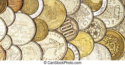 European currency - Close up of european currency pre euro