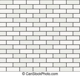 White brick wall vector seamless texture