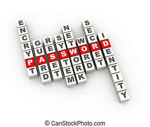 3d password crossword