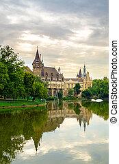 Vajdahunyad Castle in Budapest, Hungary - Vajdahunyad castle...
