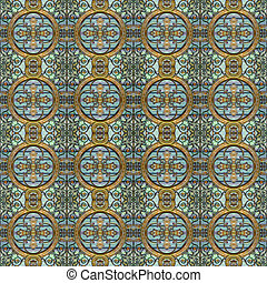 Modern Geometric Seamless Pattern Mosaic - Luxury decorative...