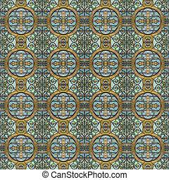 Modern Geometric Seamless Pattern Mosaic - Luxury decorative...