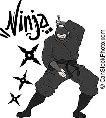 danger ninja illustration - Creative design of danger ninja...
