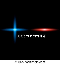 Air Conditioning symbol for business simple