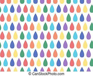 Seamless pattern with rainbow drops