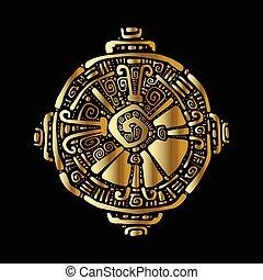 Hunab Ku Tribal pattern - Hunab Ku Mayan symbol Hand Drawn...
