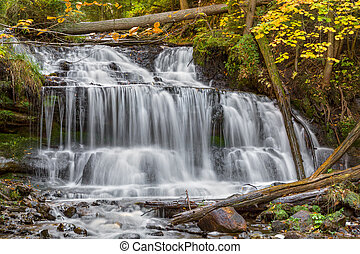 Wagner Falls in Michigan - Wagner Falls, a beautiful...