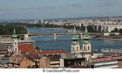 Panoramic view of Budapest, Hungary from Castle Hill