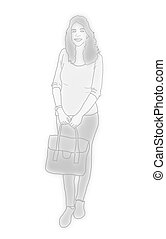 woman illustration - Creative design of woman illustration