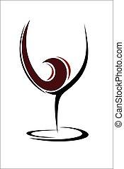 Glass of wine design
