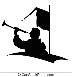 Trumpeter silhouette