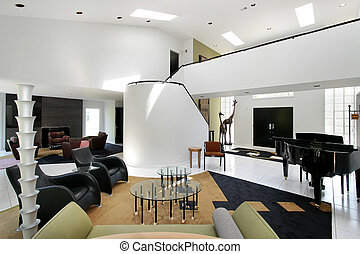 Ultra modern living room - Ultra modern living and family...
