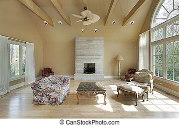 Living room in new construction home - Livng room in new...
