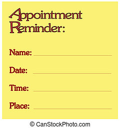 Appointment Reminder - Sticky Note Style Appointment...