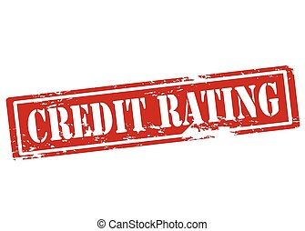Credit rating - Rubber stamp with text credit rating inside,...