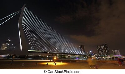 Cable bridge Erasmus in Rotterdam