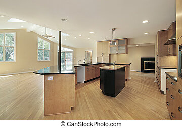 Kitchen in remodeled home