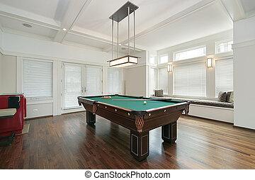 Pool room in luxury home