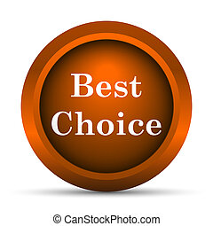 Best choice icon Internet button on white background