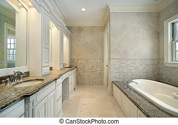 Master bath in new construction home - Master bath in new...