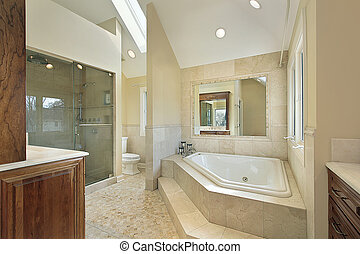 Master bath with large tub