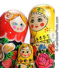matreshka doll isolated on white