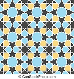 Arabic pattern Seamless vector background - Arabic geometric...