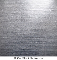 Brushed silver aluminum as a background motive