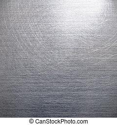 Brushed silver aluminum