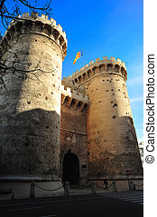 medievals towers of quart - Big medieval towers of entry to...