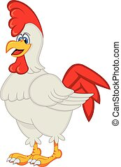 Chicken Cartoon Rooster - colourfull