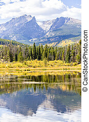 Sprague Lake in Colorado - Autumn at Rocky Mountain National...