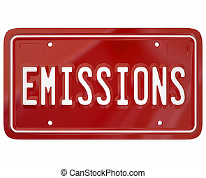 Emissions License Plate Car Auto Vehicle Standards Laws -...