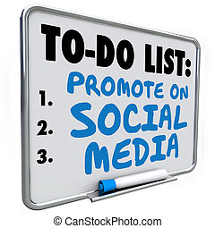 Promote on Social Media To Do List Message Board