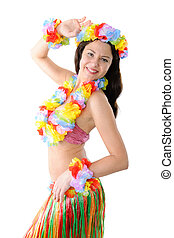 hula girl - portrait of a hawaiian hula girl
