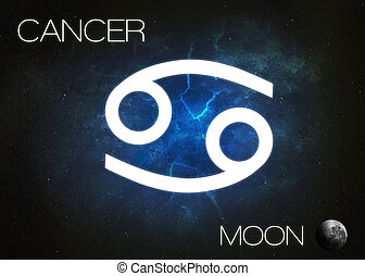 Zodiac sign - Cancer. Elements of this image furnished by...