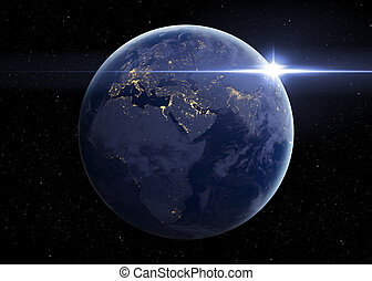 Hight quality Earth image. Elements of this image furnished...