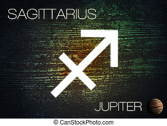 Zodiac sign - Sagittarius Elements of this image furnished...