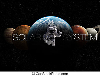 Solar System Elements of this image furnished by NASA