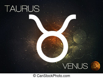 Zodiac sign - Taurus. Elements of this image furnished by...