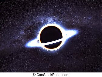 Black hole in space. Elements of this image furnished by...