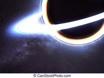 Black hole in space Elements of this image furnished by NASA...