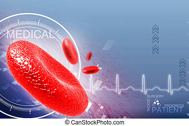 Blood cell - Digital illustration of blood cell in colour...